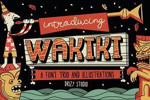 Wakiki Layered Typeface + Bonus