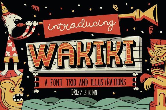 Wakiki Layered Typeface Bonus