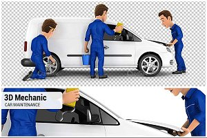 3D Mechanic Car Maintenance