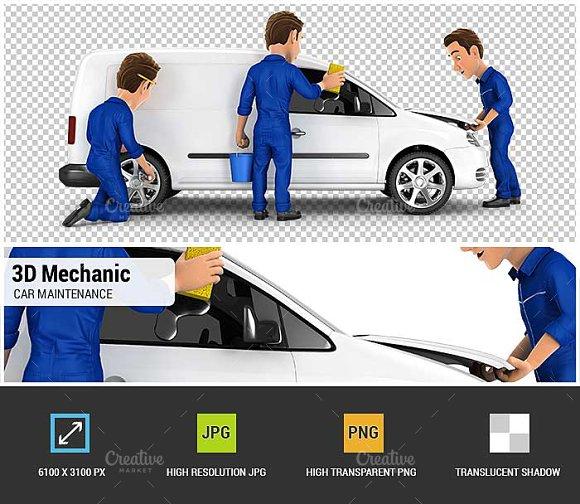 3D Mechanic Car Maintenance