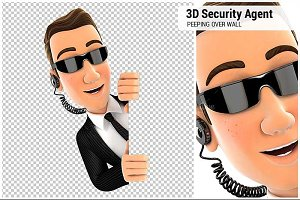 3D Security Agent Peeping