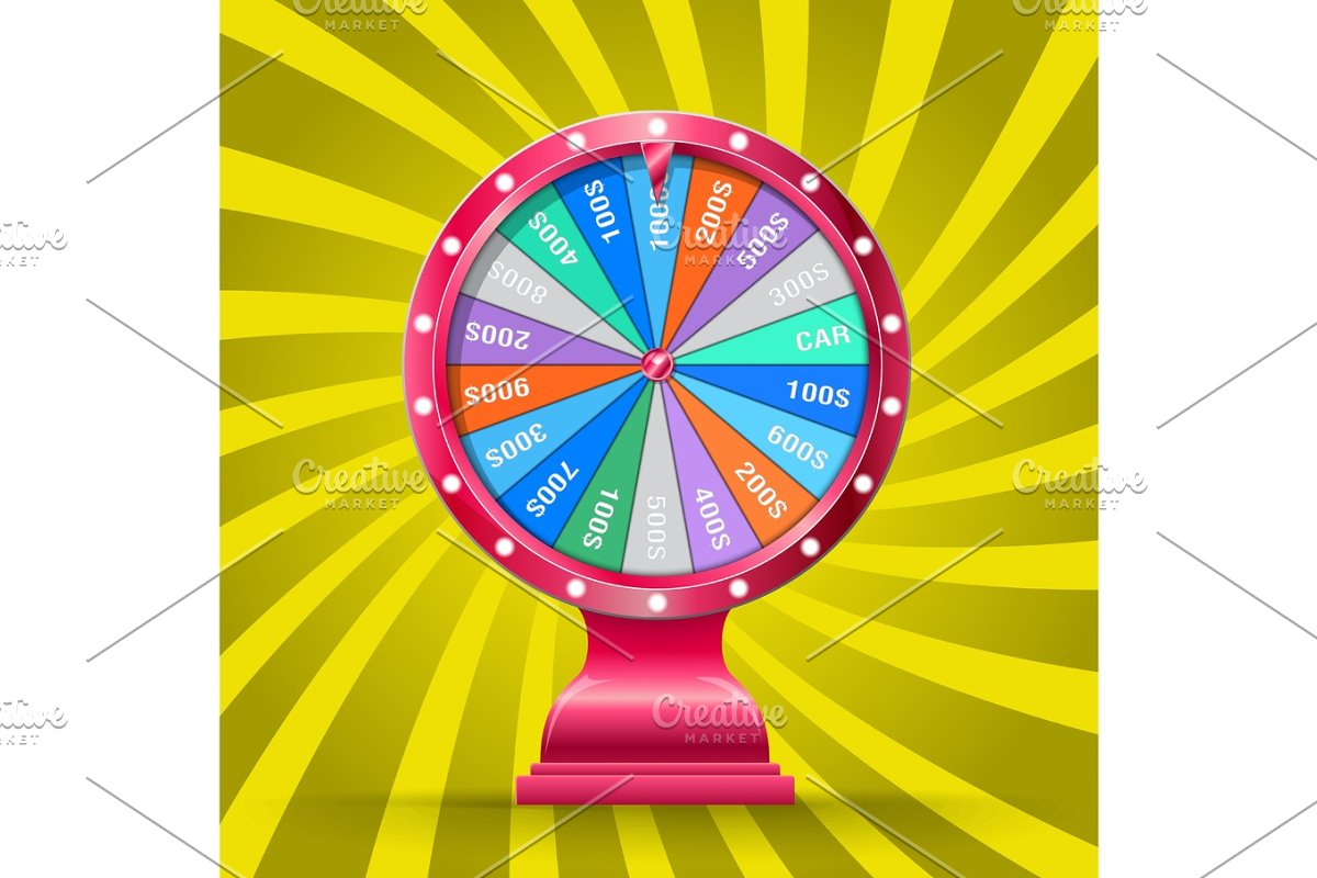 Wheel of fortune isolated