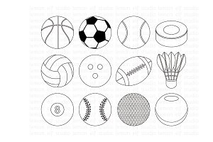 Sports Ball Stamp (LES.DS26)