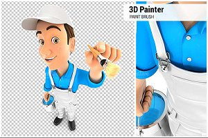 3D Painter with Paint Brush