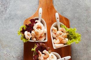 Prawn cocktail  in serving bowls