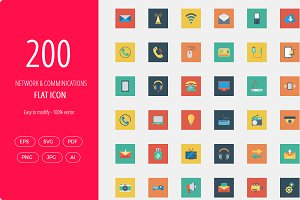 200 networking icons