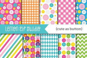 Cute As Button Paper (LES.DP28)
