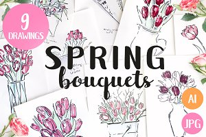 9 Spring Flowers Bouquets
