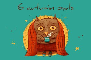 6 autumn owls