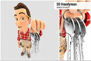 3D Handyman Bunch of Keys