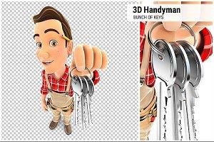 3D Handyman Bunch of Keys