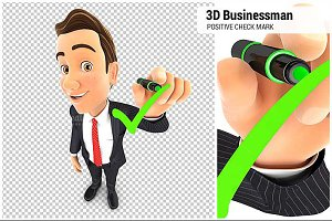 3D Businessman Check Mark