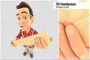 3D Handyman Wooden Plank