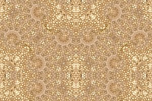 Ornate Baroque Seamless Pattern Mosaic