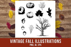 Vintage Fall Clipart