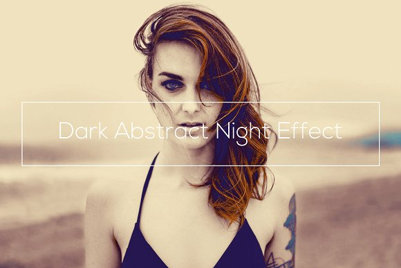 Dark Abstract Night Effect