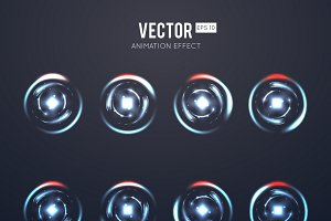Light effect rotating animation set