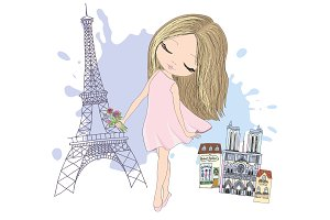 Cute Paris Card