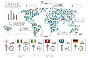 World people infographics
