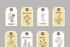 Organic herbs labels