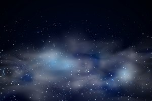 Cosmic space black sky background