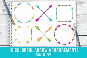 18 Colorful Arrow Arrangements