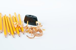 pencils with a sharpener