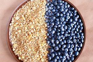 Blueberry with muesli