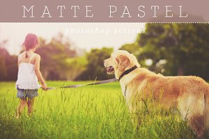 Pastel Matte Photoshop Actions