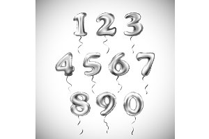 silver 1 2 3 4 5 6 7 8 9 0 balloon