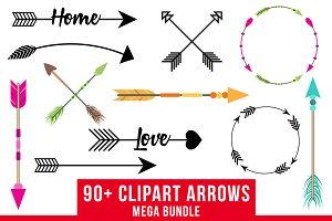 90+ Arrows Clipart Mega Bundle