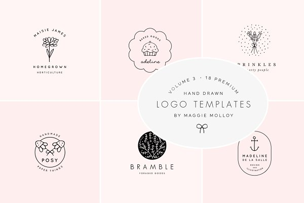 Feminine Premade Logo Bundle Vol. 3
