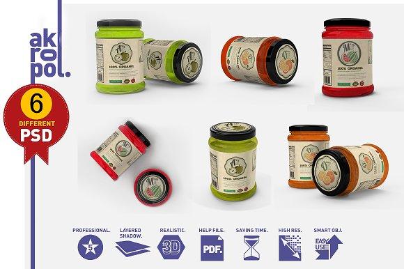 Jar / Bottle Mockups-Graphicriver中文最全的素材分享平台