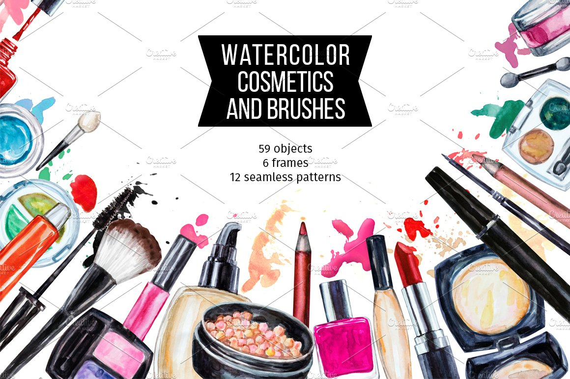 Beauty Fashion Business: Watercolor Cosmetic Collection