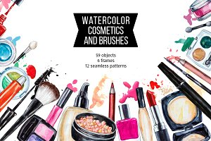 Watercolor cosmetic collection