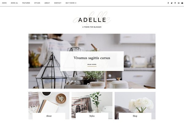 Website templates creative market for Good interior design websites