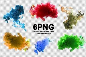 PNG acrylic colors blots