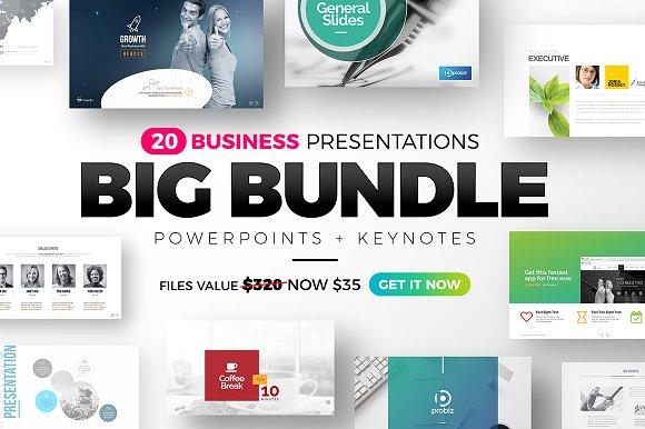 business presentation big bundle presentation templates creative
