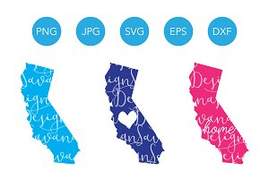 California SVG Cut File and Clipart