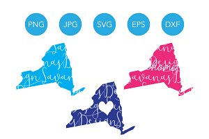 New York SVG Cut Files and Clipart