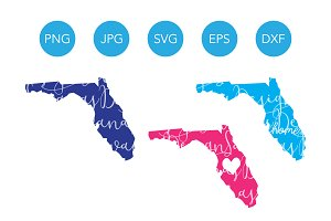 Florida SVG Cut File and Clipart PNG