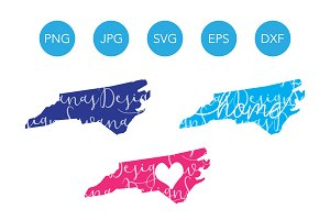 North Carolina SVG Cut File Clipart