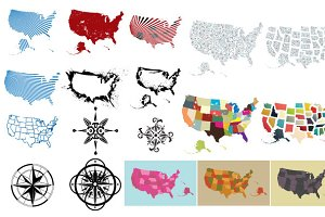 Maps of the USA Vector Pack