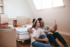 Couple moving in new place