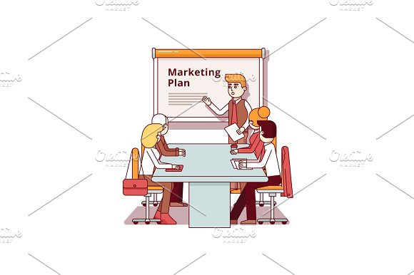 Professional Marketing Consultant Giving A Speech