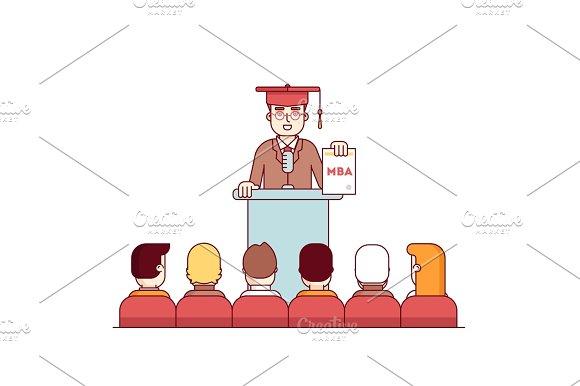 MBA Student Graduation Rostrum Speech