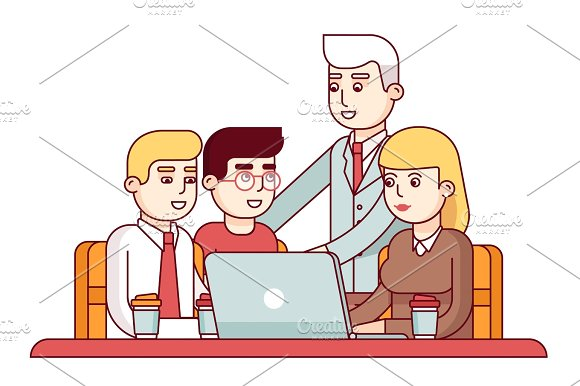Team Of Young Employees