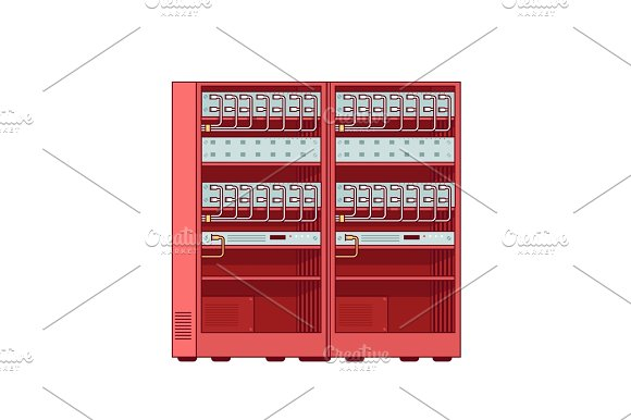 Network Server Racks Internet Service Equipment