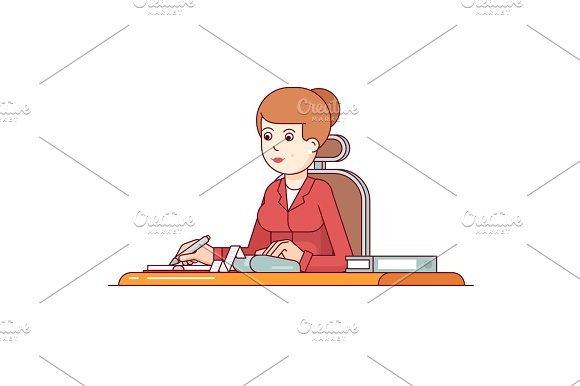 Business Woman Calculating Her Expenses