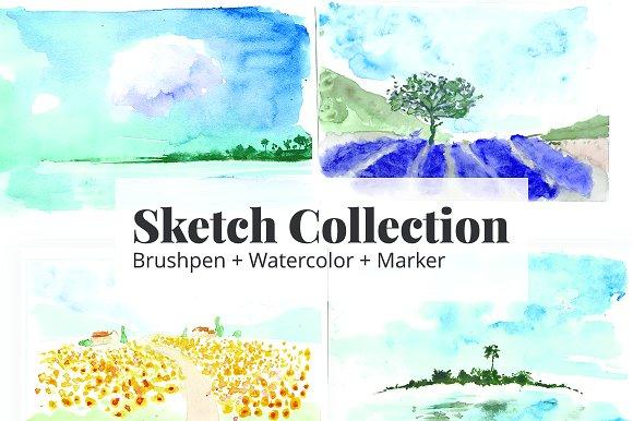 Watercolor Sketch Brushpen Marker